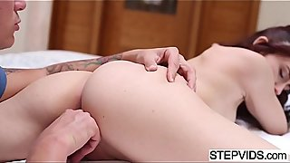 Mandy Muse gets anal lesson by stepbro