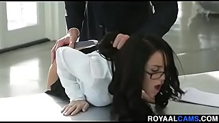 beautiful helena fucked in office and punished by boss - www.royaalcams.com