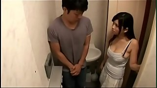 Milf removes son'_s cum in the toilet - Watch Part 2 On HDMilfCam.com