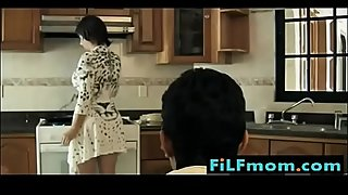 Stepmom Seduced in the Kitchen by Son - Free Full Family Sex Videos at FiLFmom.com