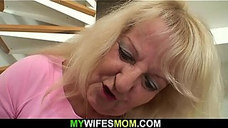 Big-cocked guy fucks blonde mother-inlaw