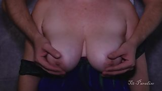 Awesome COMPILATION Playing with my wife's BIG Titties!
