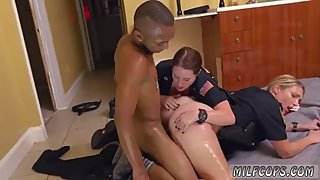 Stunning summer milf Black Male squatting in home gets our milf officers