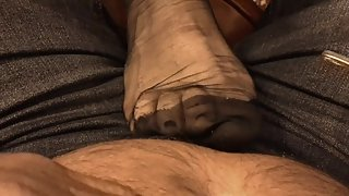 ff nylon feet in the pub with my wife 1