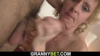He picks up and fucks blonde mature woman