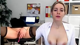 Milf masturbating At Work, Chat with her - Watch Part2 on SuzCam.com