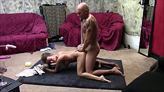 Sexy couple has hot sex session with some good hard fucking