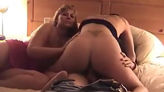 Married couple joined by sexy young girl for FFM threesome