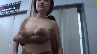 Asian woman with large natural breasts