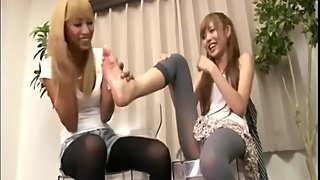 Japanese mom & daughter gets aroused by the aroma of their Feet and BO