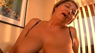 German Granny Big Floppy Hangers Fucked Young Guy