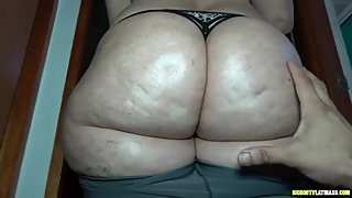 Latina Milf Gets Her Fat Meaty Cellulite Ass Groped and Fondled