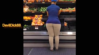 Big Booty Walmart Bitch Fucked less than 2 hours