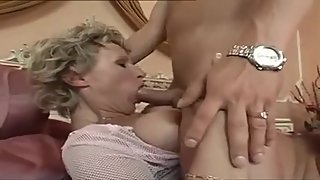 Horny Mom Gets Her Tits Creamed By A Young Cock