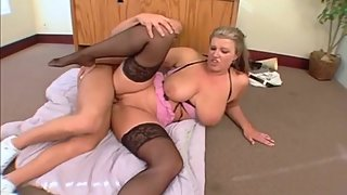 Mommy Big Saggy Floppy Tits Fucked In Stockings
