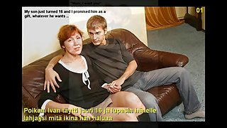 Slideshow with English and Finnish Captions: Mom Alla 1