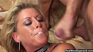 RealMomExposed - Chelsea Zinn's Throat Gets Fucked By Her Ma