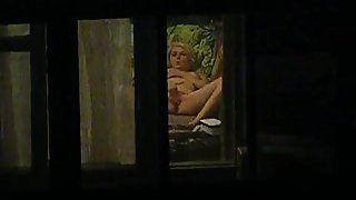 Spy for Russian mature mom in window