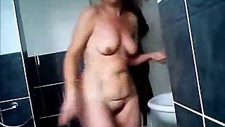 Nude moms spied in bath room by bad sons 2