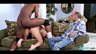 Interracial cuckold with mom 155